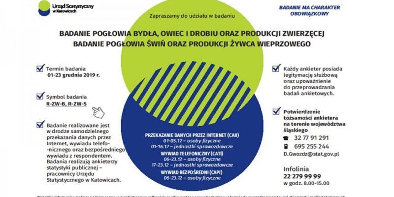 Informacja obadaniach Głównego Urzędu Statystycznego wKatowicach