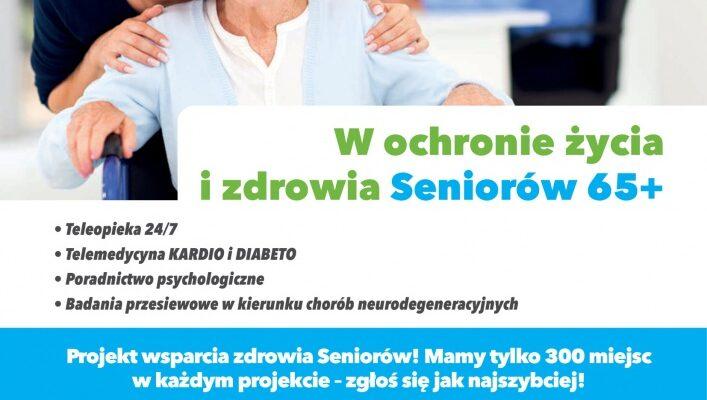 Projekt unijny skierowany do seniorów 65+, polegający na teleoopiece