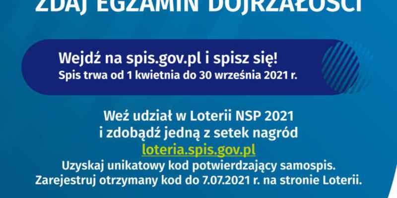 Narodowego Spisu Powszechnego Ludności iMieszkań 2021 – promocja spisu wśród maturzystów
