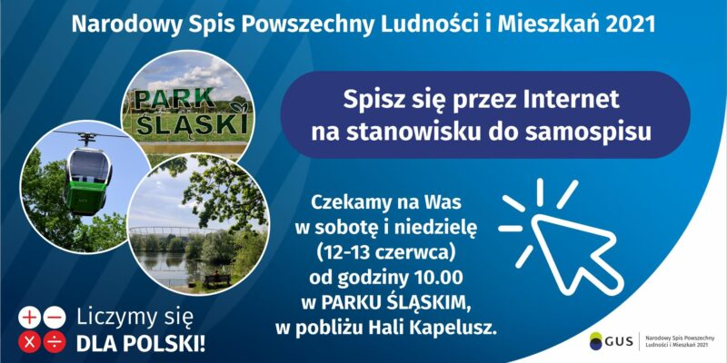 Stanowiska do samospisu w Parku Śląskim (12-13 czerwca)