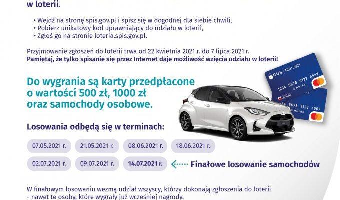 Loteria Narodowego Spisu Powszechnego Ludności iMieszkań 2021