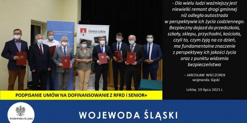 Wojewoda Śląski Jarosław Wieczorek gościł w Gminie Lelów