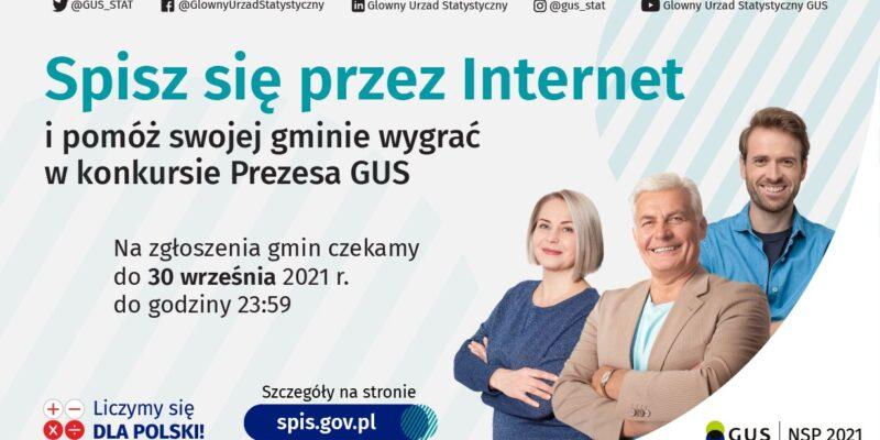 Spisz się przez internet i pomóż swojej gminie wygrać konkurs Prezesa GUS