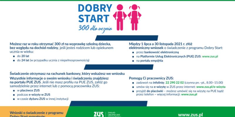 Dobry Start 300 informacje ogólne
