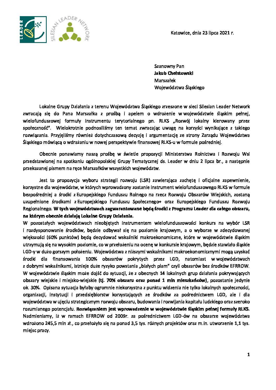 """RLKS """"Rozwój lokalny kierowany przezspołeczność"""" – prośba owsparcie"""