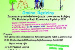 XIV Rodzinny Rajd Rowerowy Rędziny 2021