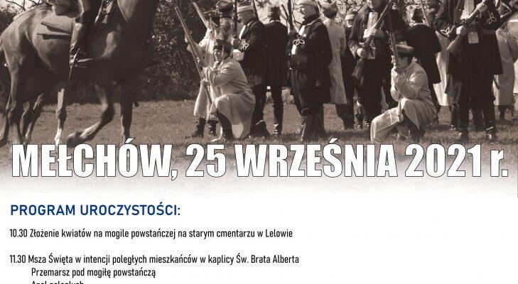 Zaproszenie na obchody 158. rocznicy Bitwy pod Mełchowem