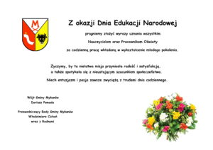 Najlepsze życzenia z Okazji Dnia Edukacji Narodowej!