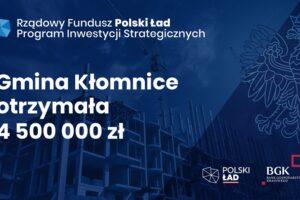 Fundusze z Polskiego Ładu w gminie Kłomnice
