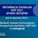 Ramowy harmonogram publikacji wyników NSP 2021. Pierwsze dane już w styczniu 2022 r.